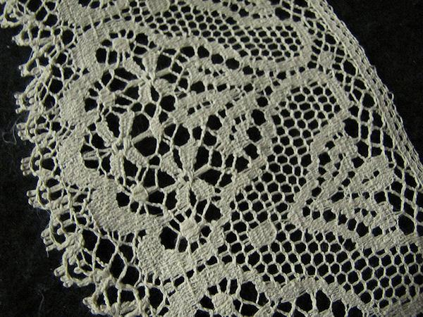 vintage antique cluny lace trim close-up 2