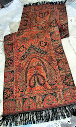 vintage table runner dresser scarf red paisley