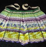 vintage half apron vivid handmade lace