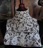 victorian antique honiton handmade lace high collar