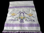 vintage good luck towel