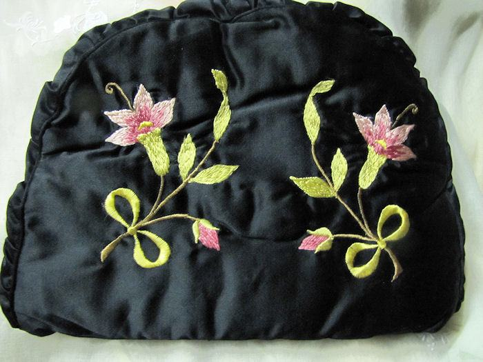 vintage antique society silk tea cozy