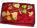 vintage antique society silk embroidered lingerie folder