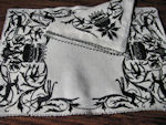 vintage placemats and napkins figural embroidery
