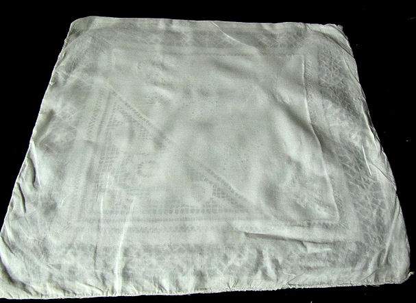 back of vintage antique handmade lace and whitework pillow cover