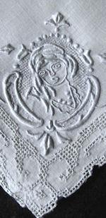 vintage antique handmade figural Appenzell lace napkins