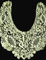 vintage antique handmade lace collar