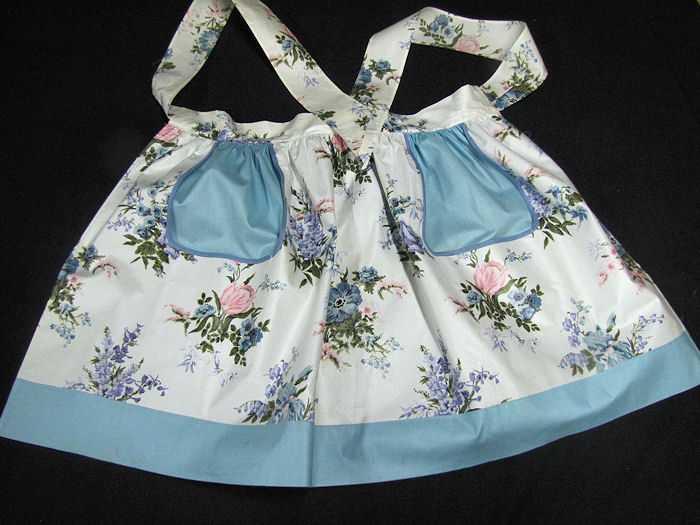 vintage reversible chintz apron
