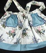 vintage reversible chintz floral print apron