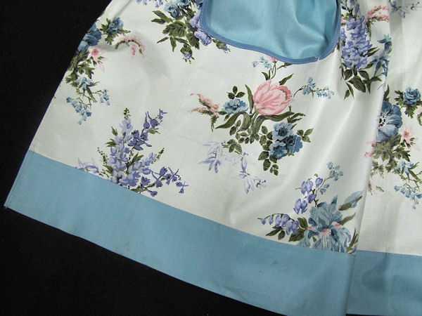 close up side 2 vintage reversible chintz apron