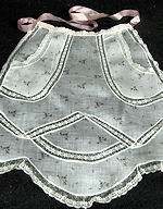 vintage half apron with French lace