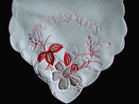 close up vintage hot biscuits roll cover