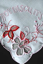 vintage linen hot biscuits rolls cover
