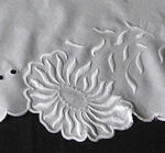 vintage antique white linen table topper