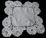 vintage antique cutwork lace table topper