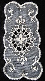 vintage antique tambour lace doily     style=