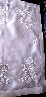 vintage handmade table runner dresser scarf with whitework
