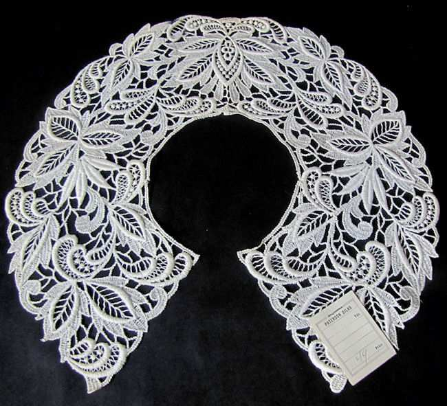 vintage lace collar with original tag