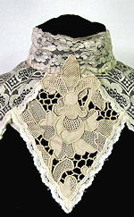vintage antiue victorian lace collar mixed lace
