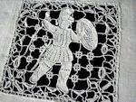 vintage figural lace towel