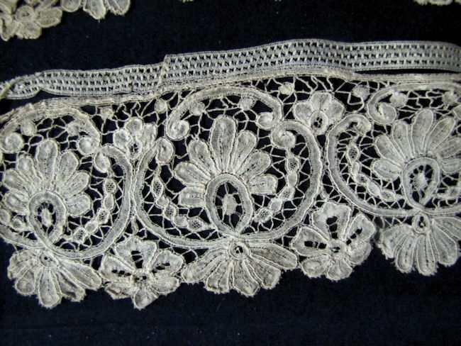 antique handmade duchesse lace trim