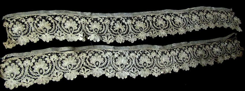 close up 1 antique handmade duchesse lace trim