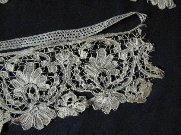 close up 4 antique handmade duchesse lace trim