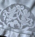 vintage antique double layover pillow sham figural lace