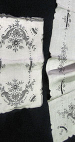 vintage placemats and table runner set handmade lace and embroidery