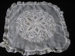 antique wedding hankie French whitework