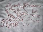 vintage redwork layover pillow sham