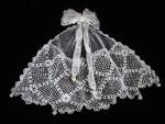 vintage victorian Irish lace jabot