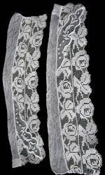 vintage victorian antique pair lace cuffs