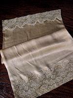 vintage satin and lace boudoir pillowcase