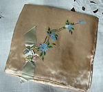 vintage antique hand painted hanky folder bag