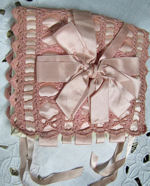 vintage antique hanky folder bag handmade lace