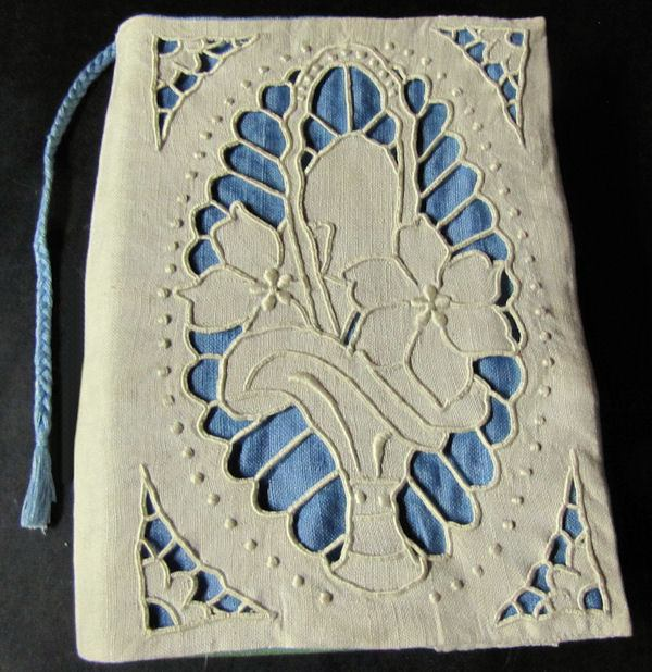 vintage antique handmade lace book cover