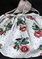 vintage floral print chintz apron