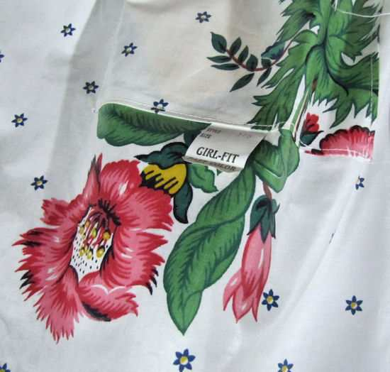 original chintz apron Girl Fit label