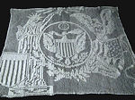 vintage wall hanging handmade figural lace