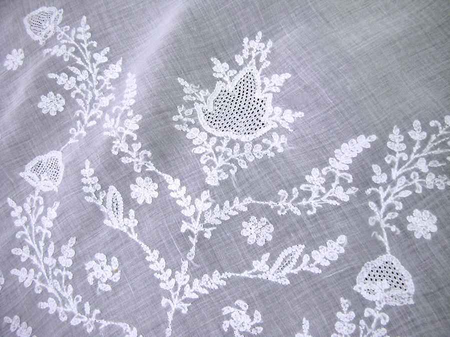 close up 3 vintage antique tablecloth handmade figural lace elephants