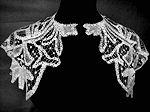 vintage antique victorian cape capette handmade lace