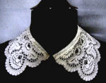 vintage antique victorian lace collar Ayrshire whitework
