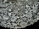 circle of lace for collar or doily brussels princess