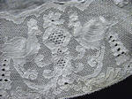 antique table topper handmade figural Point de Paris lace