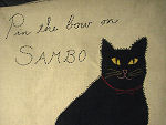 vintage embroidered sambo the cat game