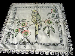 vintage arts & crafts throw or accent pillow cover