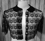 vintage black lace cape