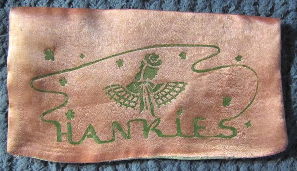 vintage art deco hanky bag