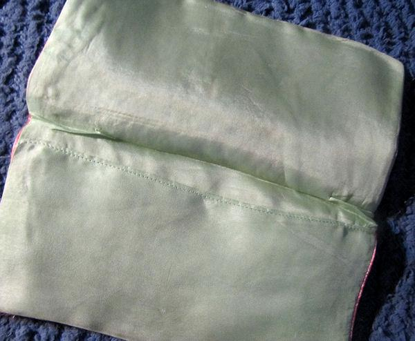 inside vintage art deco hanky bag